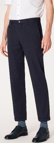 Men's Slim Fit Dark Navy Lightweight Cotton Chinos
