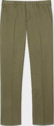 Men's Slim Fit Khaki Stretch Cotton Chinos
