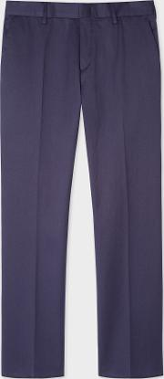 Men's Slim Fit Navy Stretch Cotton Chinos