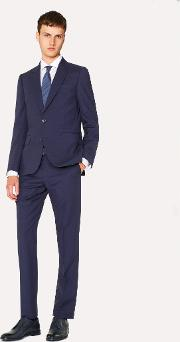 Men's Tailored Fit Indigo Wool Mohair Suit