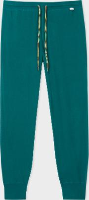 Men's Teal Jersey Cotton Lounge Pants