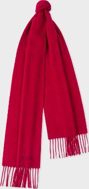 Red Cashmere Scarf