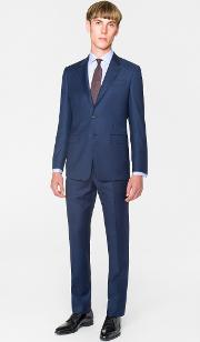 The Byard Men's Tailored Fit Navy Tonal Check Wool Suit