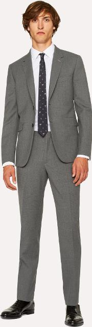 The Kensington Men's Slim Fit Grey Wool Suit 'a Suit To Travel In'