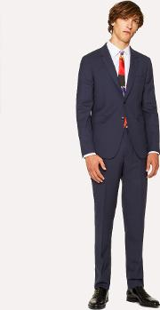 The Kensington Men's Slim Fit Navy Wool 'a Suit To Travel In'