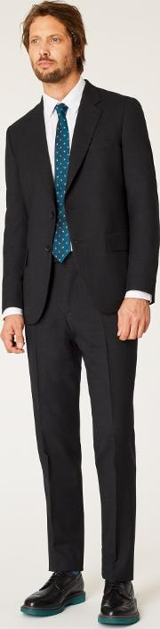 The Mayfair Men's Classic Fit Charcoal Wool 'a Suit To Travel In'