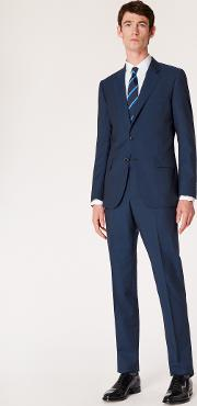 The Mayfair Men's Classic Fit Navy Wool Mohair Suit
