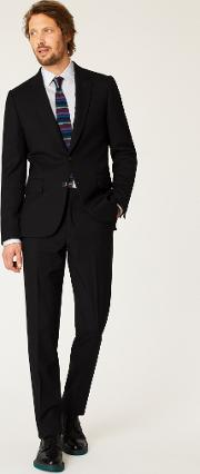 The Soho Men's Tailored Fit Black Wool 'a Suit To Travel In'