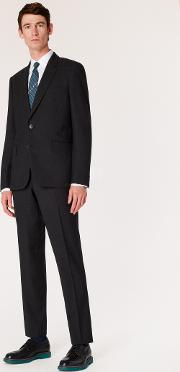 The Soho Men's Tailored Fit Charcoal Grey Wool 'a Suit To Travel In'
