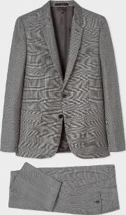 The Soho Men's Tailored Fit Grey Glen Plaid Wool Suit