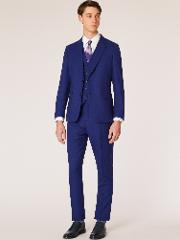 The Soho Men's Tailored Fit Indigo Three Piece 'a Suit To Travel In'