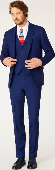 The Soho Men's Tailored Fit Indigo Wool 'a Suit To Travel In'