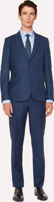 The Soho Men's Tailored Fit Navy Wool Suit