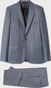 The Soho Men's Tailored Fit Slate Grey Wool Suit