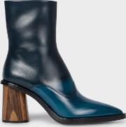 Women's Blue Ombre Leather 'maura' Boots