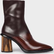 Women's Chocolate Brown Ombre Leather 'maura' Boots