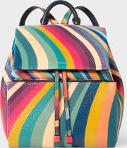 Women's 'swirl' Print Leather Backpack
