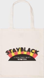 'stay Black Lightweight Stretch' Canvas Tote Bag