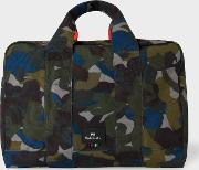 Men's Camouflage Canvas Weekend Bag