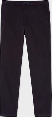 Men's Mid Fit Dark Navy Stretch Cotton Chinos