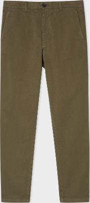 Men's Mid Fit Khaki Stretch Cotton Chinos