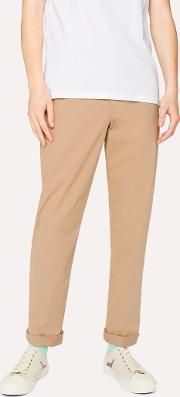 Men's Mid Fit Sand Stretch Cotton Chinos
