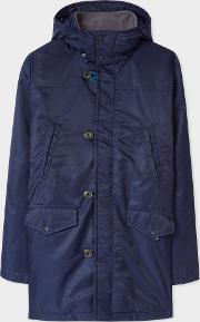 Men's Navy Quilted Down Filled Parka