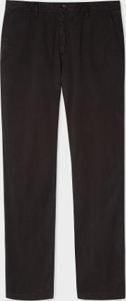 Men's Slim Fit Black Stretch Pima Cotton Chinos