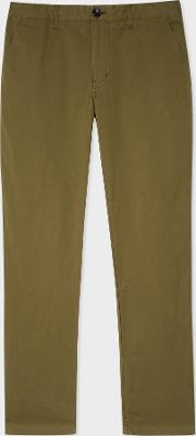 Men's Slim Fit Khaki Stretch Pima Cotton Chinos