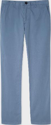 Men's Slim Fit Light Blue Stretch Pima Cotton Chinos