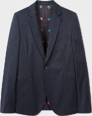 Men's Slim Fit Navy Buggy Lined Blazer