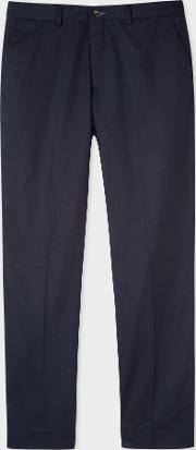 Men's Standard Fit Dark Navy Organic Cotton Chinos