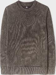 Men's Stone Grey Faded Red Ear Sweater