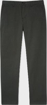 Men's Tapered Fit Dark Green Stretch Pima Cotton Chinos