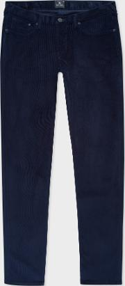 Men's Tapered Fit Navy Corduroy Trousers