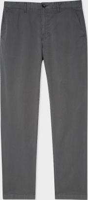 Men's Tapered Fit Slate Grey Stretch Pima Cotton Chinos