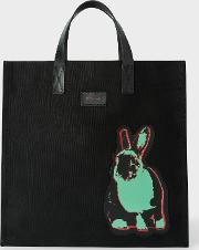 Women's 'artful Lives' Patch Black Canvas Tote Bag