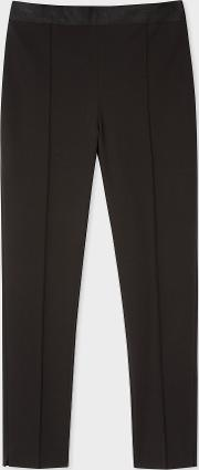 Women's Black Stretch Cotton Skinny Fit Trousers