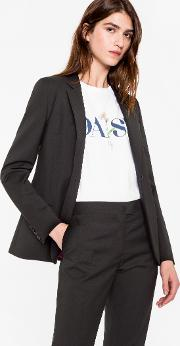 Women's Black Wool Mohair Blazer