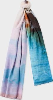 Women's 'bridge' Photo Print Scarf