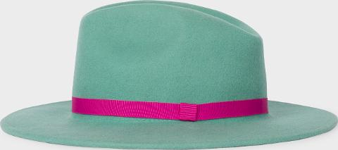 8a5f9f55cd ps paul smith Women s Mint Green Wool Fedora Hat With  acapulco ...