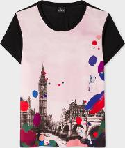 Women's 'painted London' Print T Shirt