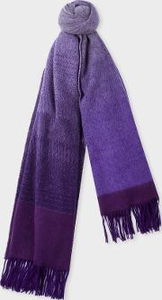 Women's Violet Ombre Lambswool And Cashmere Scarf