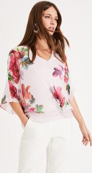Adelle Floral Silk Blouse