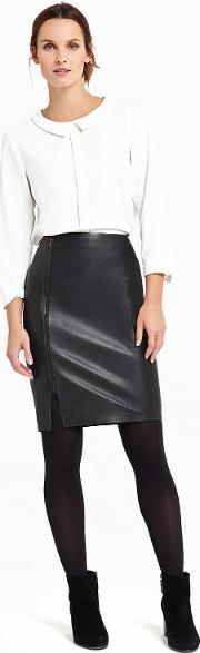 Carly Leather Skirt