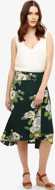 Chrissy Botanical Print Skirt