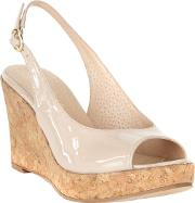 Daisy Leather Wedge