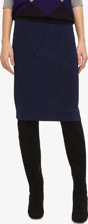Georgina Grid Stitch Skirt