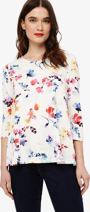 Lacey Floral Print Top