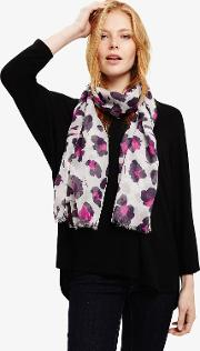 Lotty Smuged Floral Scarf